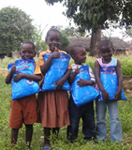 FAWCO Nets distributed by BioVision to children in Malind Nyabondo