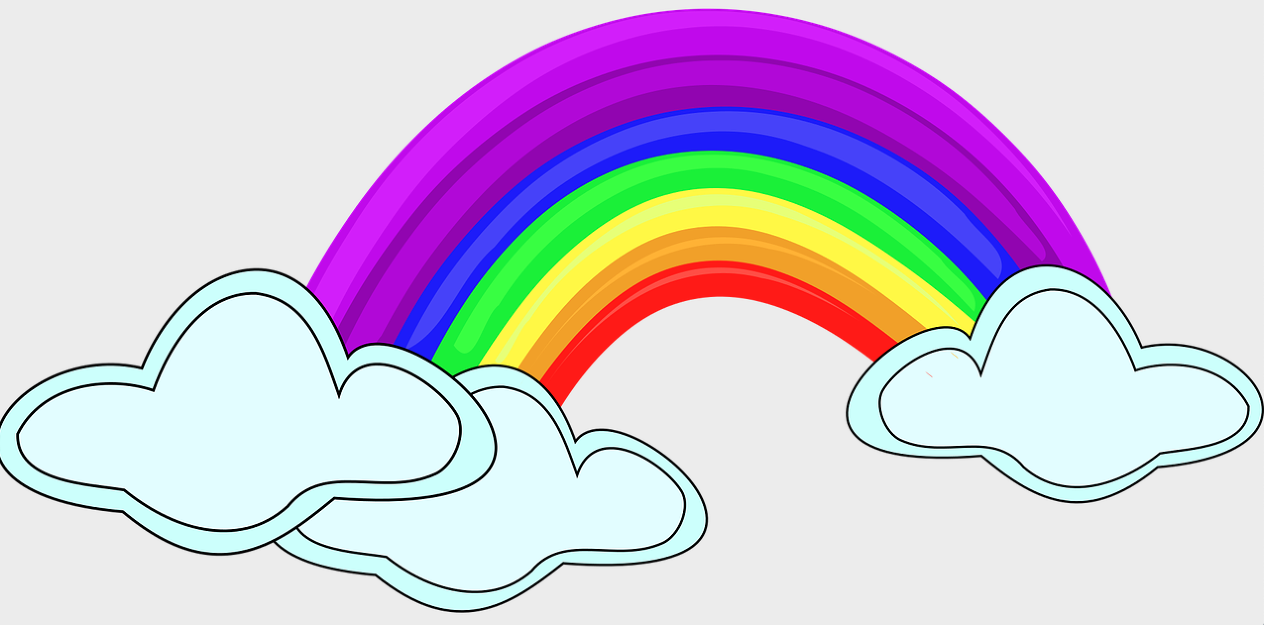 rainbow clipart edteam April 2020