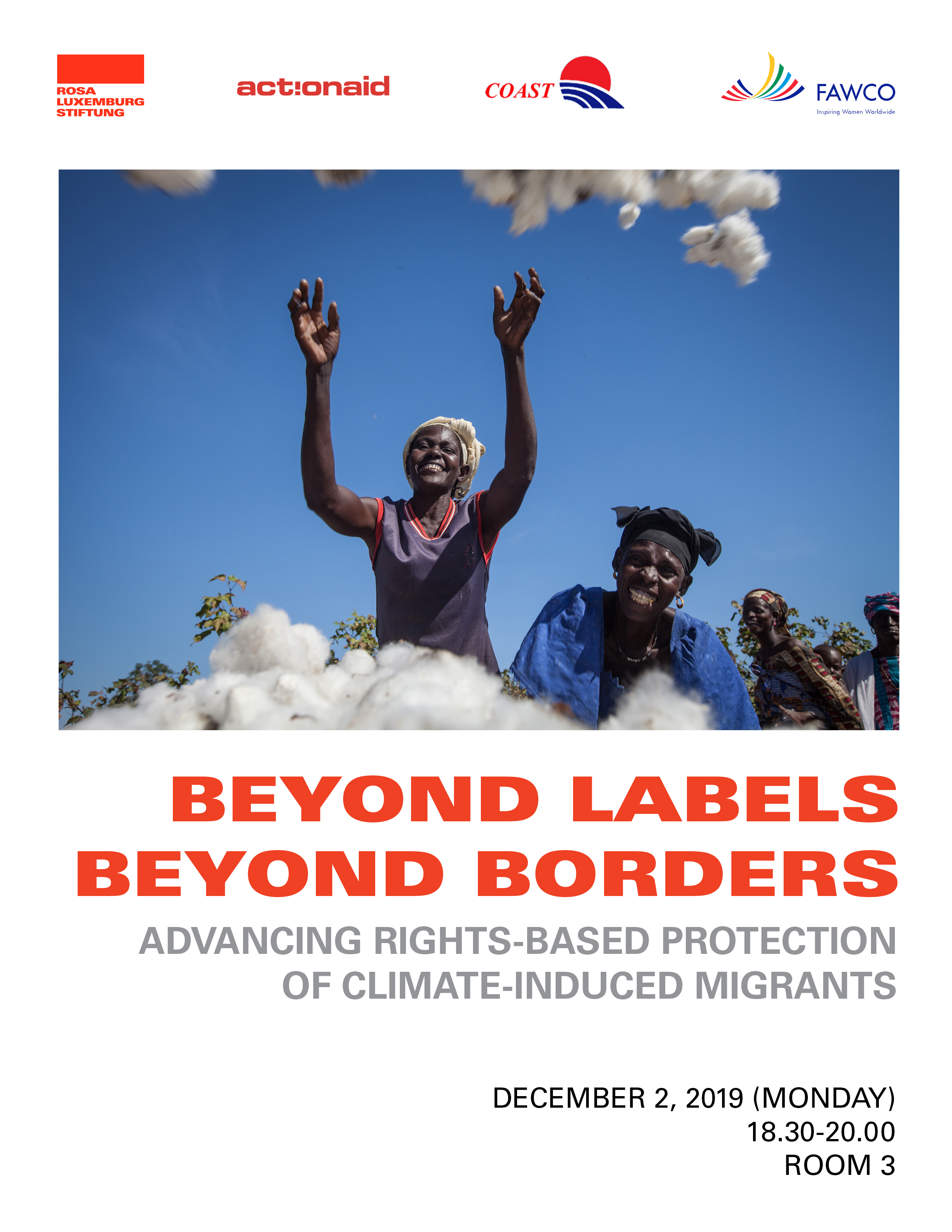 COP 25 Beyond Labels Beyond Borders flyer