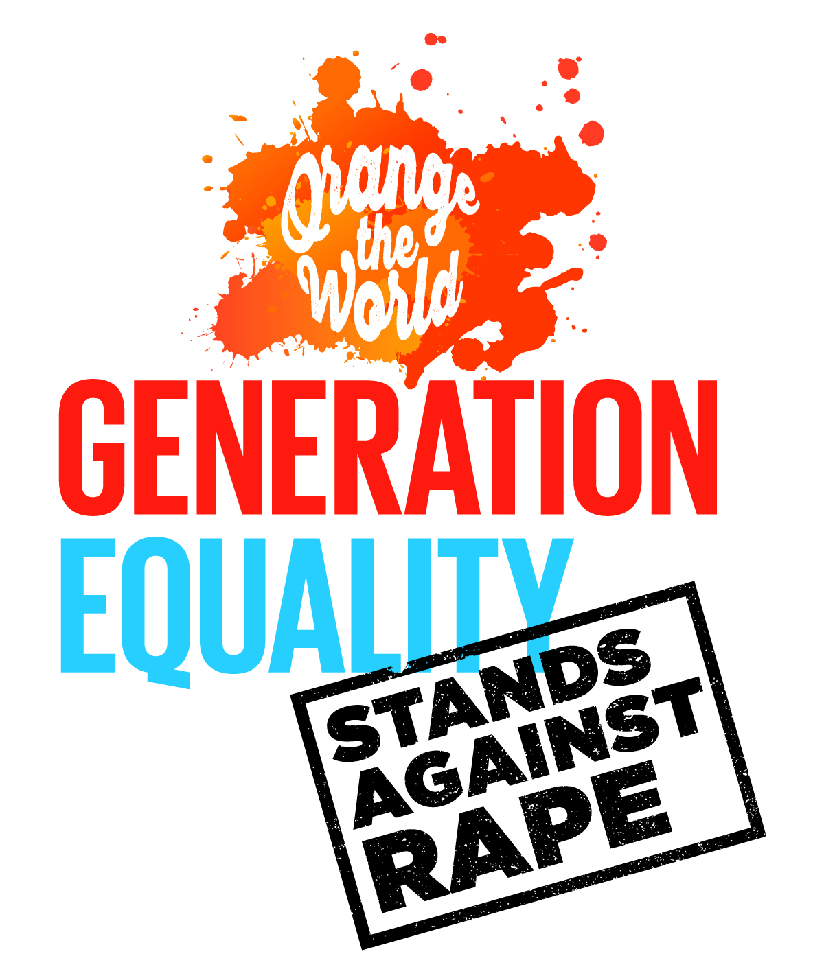 ORANGE GENERATION EQUALITY STANDS AGAINST RAPE LOGO EN Vertical RVSD 2019.11