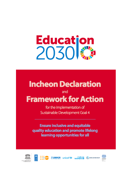 2015 Incheon Declaration cover