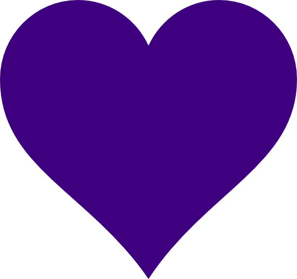 BW purple heart clipart