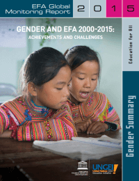 Gender and EFA 2000 2015 Achievements Challenges